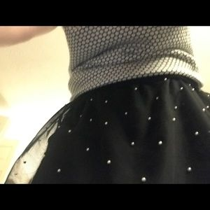 Sweater and skirt outfit